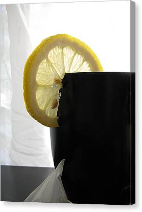 Canvas Print featuring the photograph Lemon Slice by Lindie Racz
