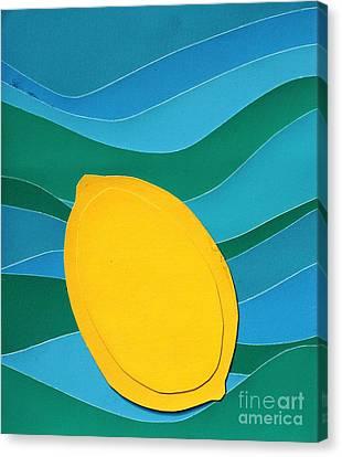 Lemon Slice Canvas Print by Vonda Lawson-Rosa