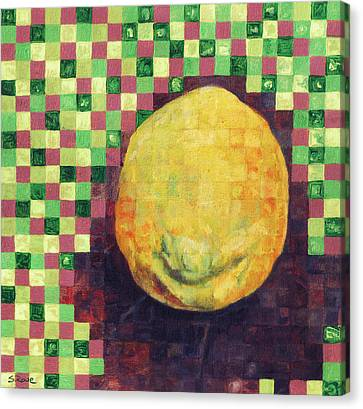 Lemon Squares Canvas Print by Shawna Rowe