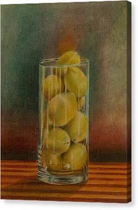 Lemon Stack Canvas Print