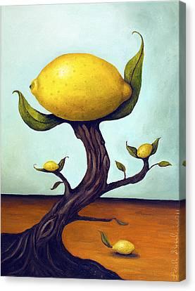 Lemon Tree Canvas Print by Leah Saulnier The Painting Maniac