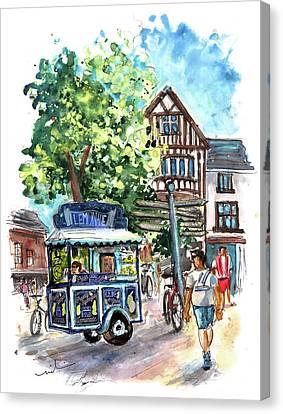 Lemonade Van In York Canvas Print