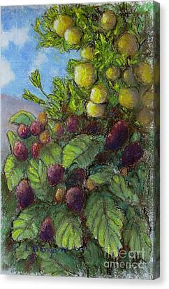 Lemons And Berries Canvas Print by Laurie Morgan