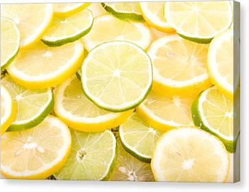 Sli Canvas Print - Lemons And Limes Abstract by James BO  Insogna