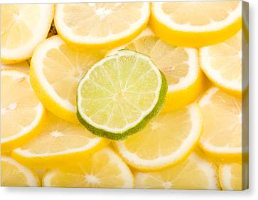 Lime Canvas Print - Lemons And One Lime Abstract by James BO  Insogna