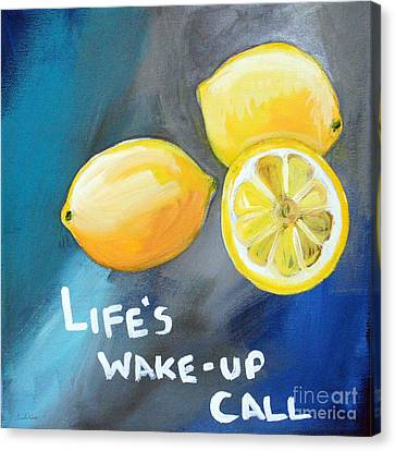 Lemons Canvas Print by Linda Woods