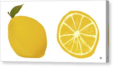 Lemons Canvas Print by  Lisa Weedn
