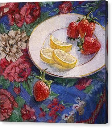 Lemons N Berries Canvas Print by L Diane Johnson