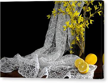 Lemons'n Lace Canvas Print by Diana Angstadt