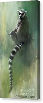 Lemur Catching Rays Canvas Print