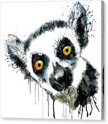 Lemur Head  Canvas Print