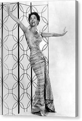 Lena Horne. Ca. 1950s. Courtesy Csu Canvas Print by Everett