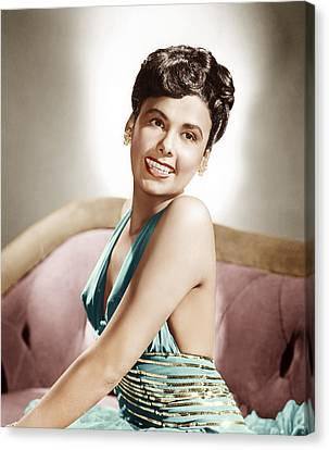 1940s Hairstyles Canvas Print - Lena Horne, Mgm Portrait, Ca. 1940s by Everett