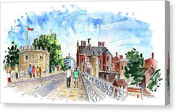 Lendal Bridge In York Canvas Print