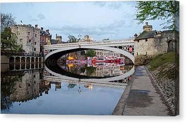 Lendal Bridge Reflection  Canvas Print