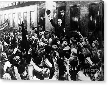 Lenin At Finland Station Canvas Print by Granger