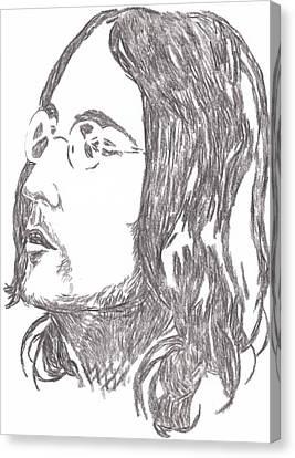 Lennon A Soap Impression Canvas Print