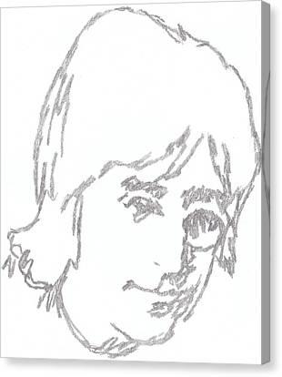Lennon Free As A Bird Canvas Print