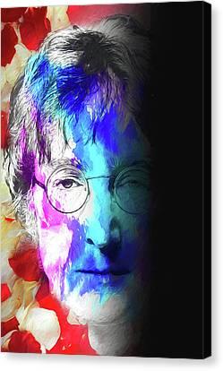 Canvas Print featuring the digital art Lennon by John Haldane