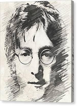 Fab Four Canvas Print - Lennon by John Springfield