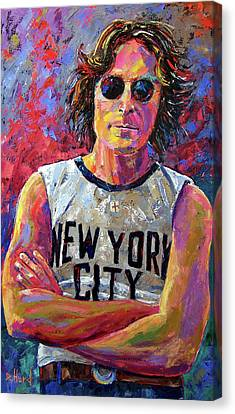 Lennon New York Canvas Print by Debra Hurd