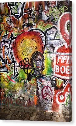 Lennon Wall, Prague Canvas Print by Mark Williamson