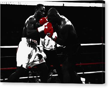 Lennox Lewis And Iron Mike Canvas Print