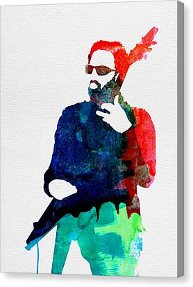 Lenny Watercolor Canvas Print