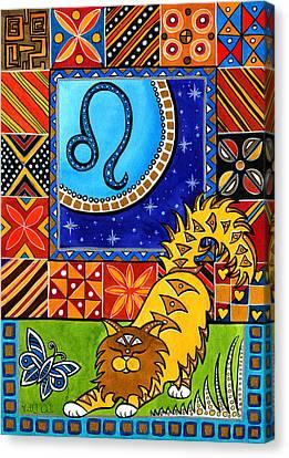 Leo Cat Zodiac Canvas Print