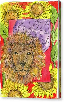 Canvas Print featuring the painting Leo by Cathie Richardson