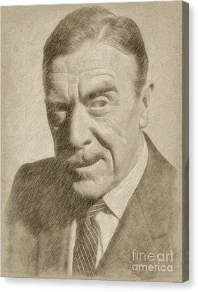 Leo G. Carroll, Actor Canvas Print by Frank Falcon