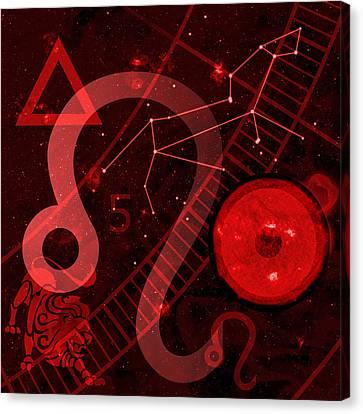 Celestial Canvas Print - Leo by JP Rhea
