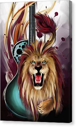 Leo Canvas Print by Melanie D