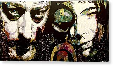 Movie Art Canvas Print - Leon And Mathilda by Bobby Zeik