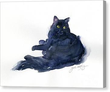 Loose Style Canvas Print - Leon Portrait by John Keeling