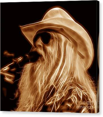 Musician Canvas Print - Leon Russell Collecton by Marvin Blaine