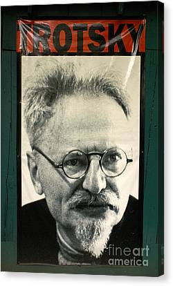 Leon Trotsky Poster Mexico City Canvas Print by John  Mitchell
