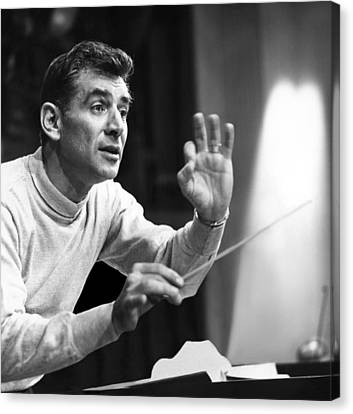 Leonard Bernstein, 1960 Canvas Print by Everett