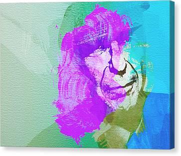 Leonard Cohen 3 Canvas Print by Naxart Studio