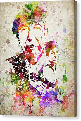Leonard Cohen Color Canvas Print