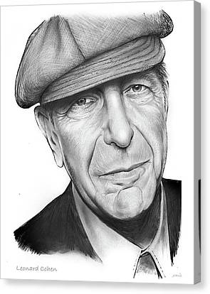 Leonard Cohen Canvas Print by Greg Joens