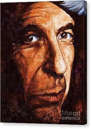 Leonard Cohen Canvas Print by Igor Postash