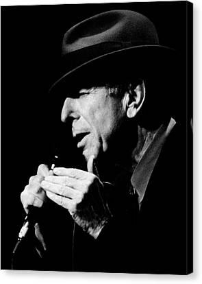 Singing Canvas Print - Leonard Cohen by Mathieu L'Heureux Roy