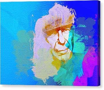 Leonard Cohen Canvas Print by Naxart Studio