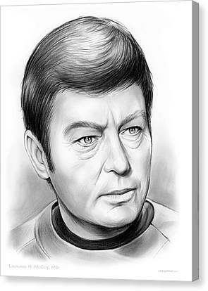 Enterprise Canvas Print - Leonard Mccoy by Greg Joens
