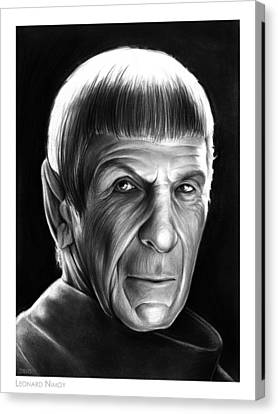 Leonard Nimoy Canvas Print by Greg Joens