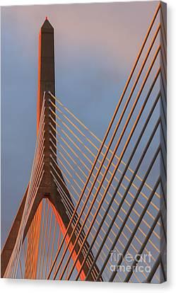 Boston Bridges Canvas Print - Leonard P. Zakim Bunker Hill Memorial Bridge, Boston by Henk Meijer Photography