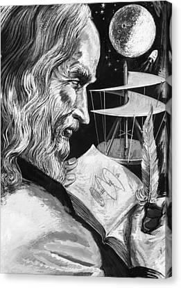 Leonardo Da Vinci Canvas Print