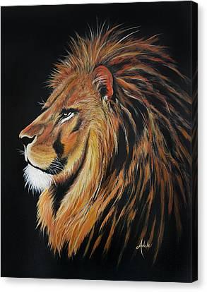 Leonardo Lion Canvas Print by Adele Moscaritolo