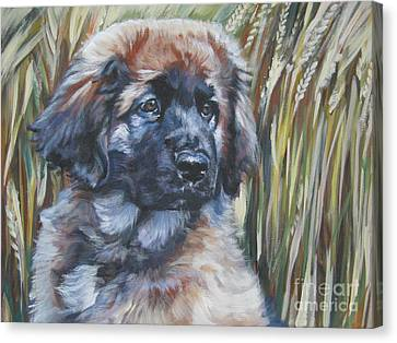 Leonberger Pup Canvas Print by Lee Ann Shepard